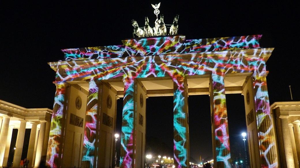 Brandenburg Gate lit up